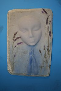 A Prayer Lady 5; Dyed Concrete with Lavender - $130 - SOLD