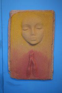 A Prayer Lady 6; Dyed Concrete - $125 -SOLD