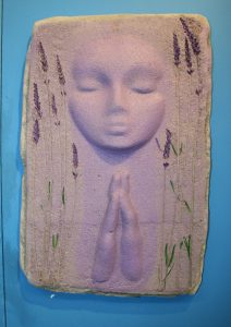 A Prayer Lady 7; Dyed Concrete with Lavender - $130 - SOLD