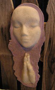 A Praying Woman; Dyed Concrete - $95 - SOLD