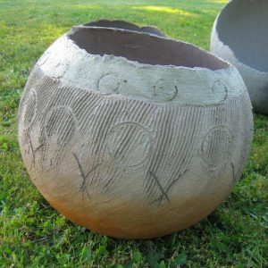 Egg terra-cotta Scribed - SOLD