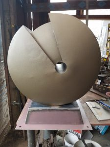 DA Fabricated Coreten Base for Jan Hoy sculpture