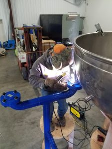 Brian - Welding Pot #1 to Stand
