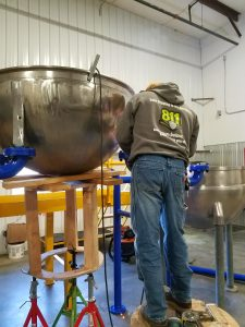 Fitting Pots to Stands for Welding