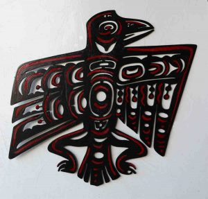 "Raven; Wall Hanging, Hand-Painted (Both Sides) Steel - 24""x26"" - $225"