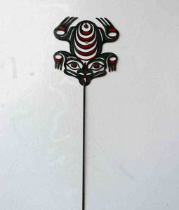 "Frog; Garden Stake - 30"", Painted Steel - $40"