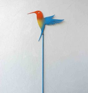 """Painted Hummer; Garden Stake - 18""""-30"""", Painted Steel - $30"""