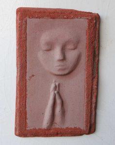 Prayer Lady #9; Dyed Concrete - $125