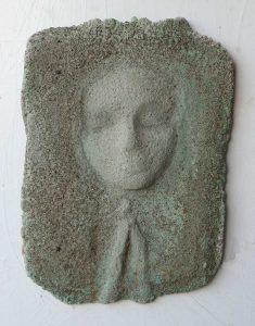 Prayer lady #4; Dyed Concrete - $125