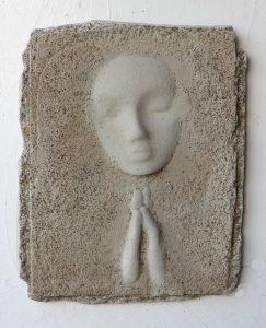Prayer Lady #2; Dyed Concrete - $125
