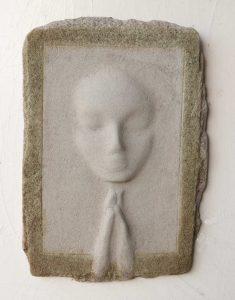 Prayer Lady #1; Dyed Concrete - $125