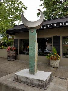 Emerald Springs; Stainless Steel, Copper, Metamorhic Quartzite, Concrete, 8' x 4' x 2' - $15,000