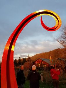 """Big Red; Painted Steel; 13' x 8' x 48""""; $8,500"""