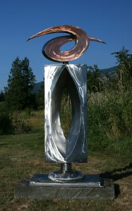 Invision II; Stainless Steel, Copper; 7' x 3' x 2', - $15,000