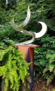 Burning Tree; 2008; Stainless Steel,Painted Steel; 7'x4'x2'; $7,500