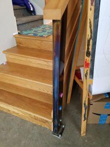 Heat-Treated Custom Steel Handrail Support
