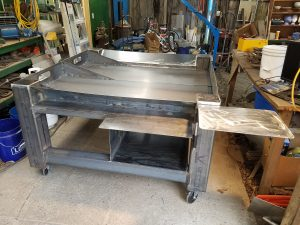 Completed CNC Plasma Table with slide-out dump trays