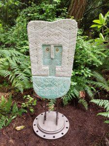 Navajo Owl; Dyed Concrete, Steel; @ Matzke Gallery