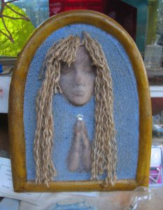 Praying Lady with Golden Locks - SOLD